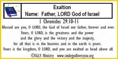 1Chronicles 29:10-11 Memory Verse Card