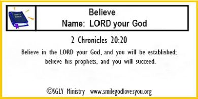 2Chronicles 20:20-Memory Verse Card