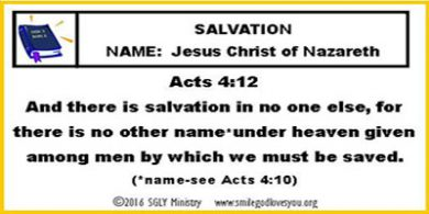 Acts 4:12 Memory Verse Card