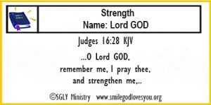 Judges 16:28 Memory Verse Card