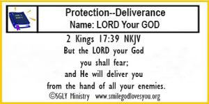 2 Kings 17:39 Memory Verse Card