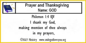 Philemon 1:4 Memory Verse Card