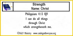 Philippians 4:13 Memory Verse Card