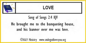 Song of Songs 2:4 Memory Verse Card