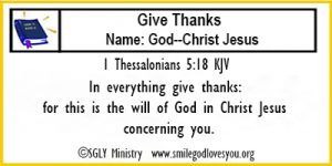 1 Thessalonians 5:18 Memory Verse Card