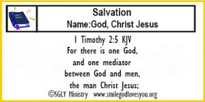 1 Timothy 2:5 Memory Verse Card