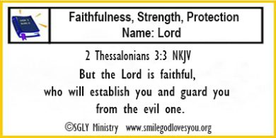 2 Thessalonians 3:3 Memory Verse Card