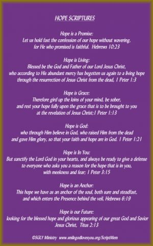 Hope Scriptures-Memory Verse Card
