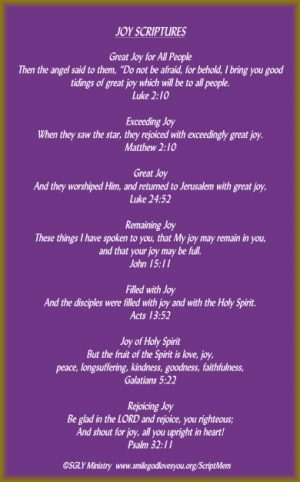Joy Scriptures-Memory Verse Card