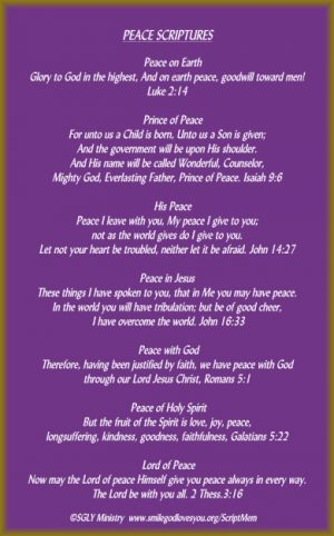 Peace Scriptures Memory Verse Card