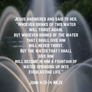 Week 38–Jesus is Living Water