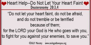 Heart Help–Do Not Let Your Heart Faint