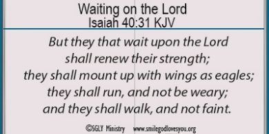 Waiting on the Lord Memory Verse